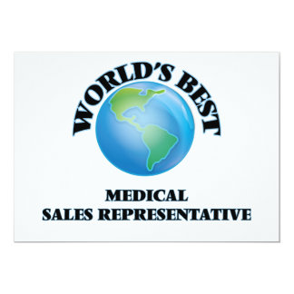 World's Best Medical Sales Representative Cards