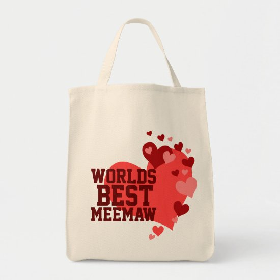 Worlds Best MeeMaw Personalized Tote Bag