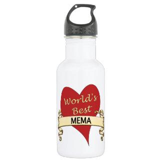 World's Best Mema Stainless Steel Water Bottle