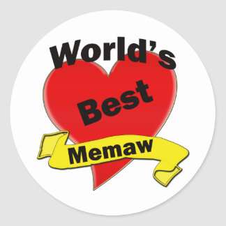 World's Best Memaw Classic Round Sticker