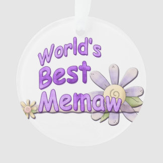 Worlds Best Memaw Flower