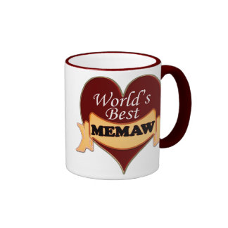 World's Best Memaw Ringer Mug