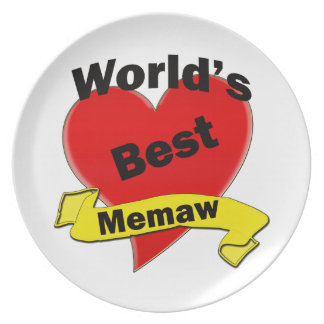 World's Best Memaw Plate