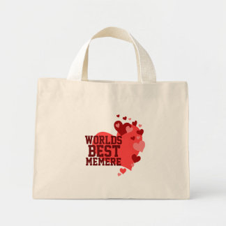 Worlds Best Memere Personalized Mini Tote Bag