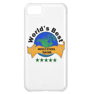 World's Best Middle School Teacher Cover For iPhone 5C