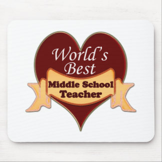 World's Best Middle School Teacher Mouse Pad