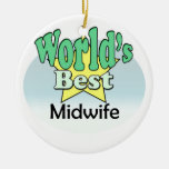 World's best Midwife Ornament