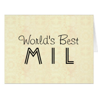 World's Best MIL Mother in Law Vintage P01AZ Card