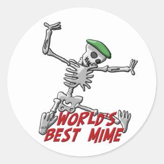 World's Best Mime Classic Round Sticker