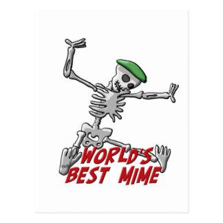 World's Best Mime Postcard