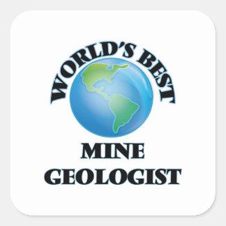 World's Best Mine Geologist Square Sticker