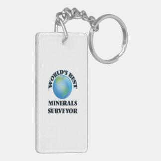 World's Best Minerals Surveyor Acrylic Keychain