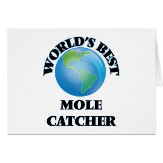World's Best Mole Catcher Greeting Card