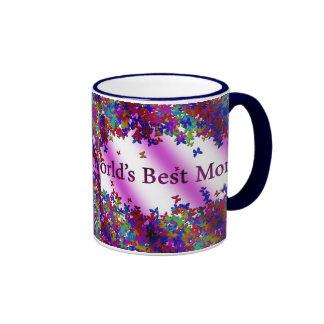 World's Best Mom #1 Ringer Coffee Mug