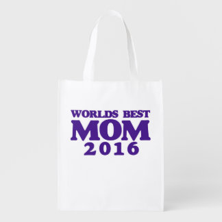 Worlds best MOM 2016 Reusable Grocery Bag