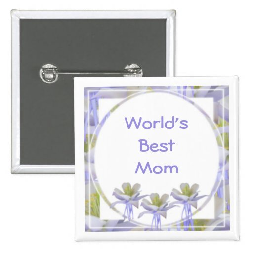 World's Best Mom 2 Inch Square Button