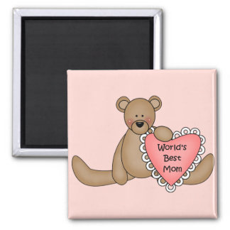 World's Best Mom 2 Inch Square Magnet