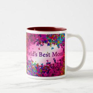 World's Best Mom #2 Two-Tone Coffee Mug