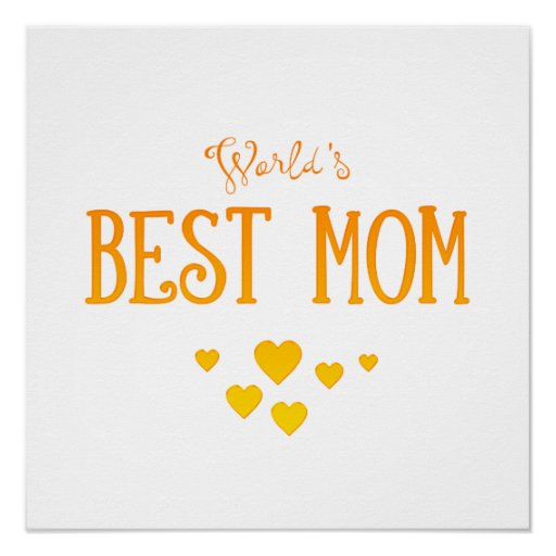 World 39 s best mom adorable gift poster zazzle for Best gifts to give mom