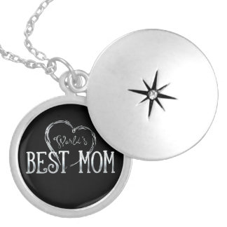 World's Best Mom | Adorable Gift Silver Plated Necklace