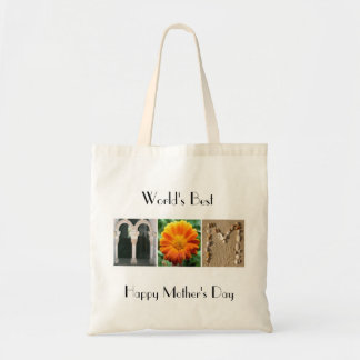 World's Best Mom Alphabet Photography Tote Bag
