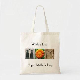 World's Best Mom Alphabet Photography Tote Bag
