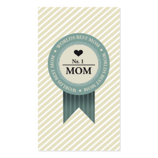 WORLDS BEST MOM BADGE BUSINESS CARD