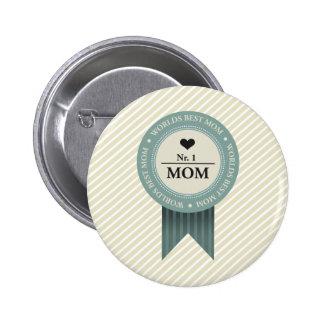 WORLDS BEST MOM BADGE 2 INCH ROUND BUTTON