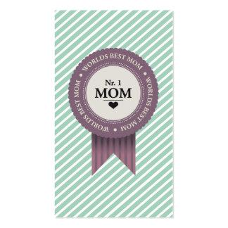 WORLDS BEST MOM BADGE PURPLE BUSINESS CARD