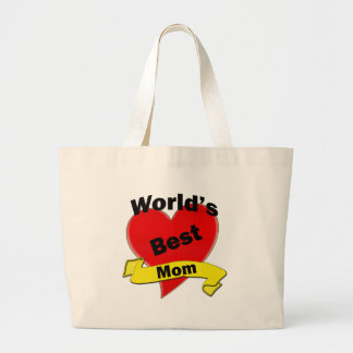 World's Best Mom Canvas Bags