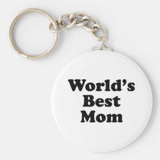 World's Best Mom Basic Round Button Keychain