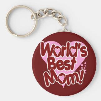 World's BEST Mom! Basic Round Button Keychain