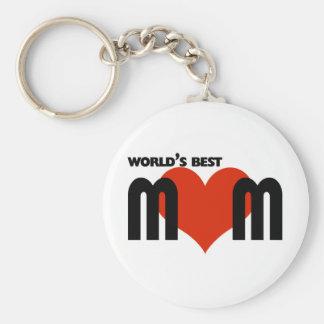 Worlds Best Mom Basic Round Button Keychain