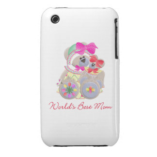 World's Best Mom (bears) iPhone 3 Cover