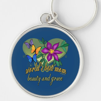 World's Best Mom Beauty and Grace Keychain