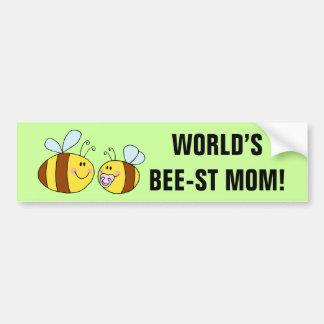 World's Best Mom (Bee) Bumper Sticker