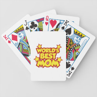 World's Best Mom Bicycle Playing Cards