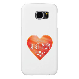 World's Best Mom | Big Red Heart Adorable Gift Samsung Galaxy S6 Case