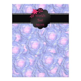 World's best mom blue roses custom flyer