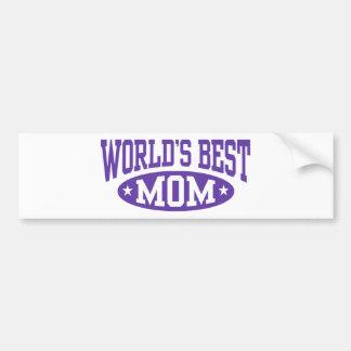 World's Best Mom Bumper Sticker