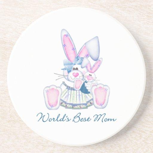 World's Best Mom (bunnies) Coaster