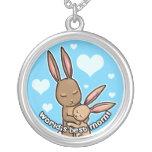Worlds best Mom Bunny Custom Necklace
