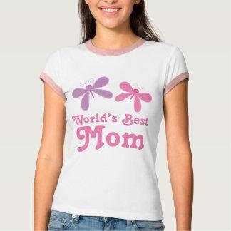 Worlds Best Mom Butterflies Design Tshirt Gift