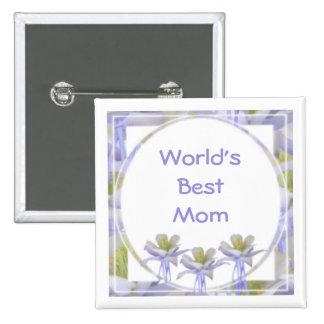 World's Best Mom Pinback Buttons