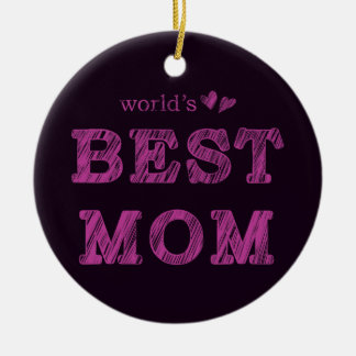 World's Best Mom Ceramic Ornament