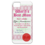 World's Best Mom Certicate iPhone 5 Covers