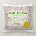 World's Best Mom Certificate Pillows