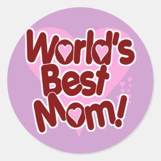World's BEST Mom Classic Round Sticker