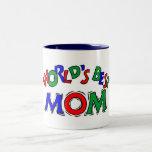Worlds Best Mom Coffee, Tea Cup Two-Tone Coffee Mug