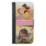World's Best Mom Custom Photo Collage Iphone 6/6s Plus Wallet Case at Zazzle